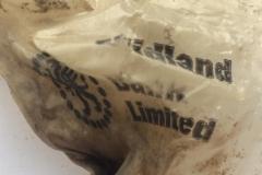 Ancient Midland Bank cash bag